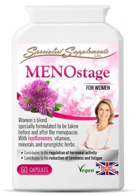 MENOstage x 60 Veg-Caps; Herbal Support For Women; Specialist Supplements